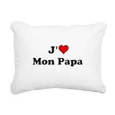 J HEART Mon Papa Rectangular Canvas Pillow