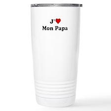 J HEART Mon Papa Travel Mug