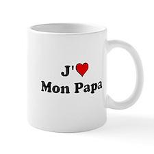 J HEART Mon Papa Mugs