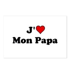 J HEART Mon Papa Postcards (Package of 8)