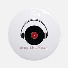 Drop The Beat Ornament (Round)