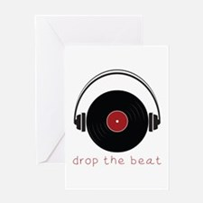 Drop The Beat Greeting Cards