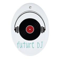 Future DJ Ornament (Oval)