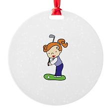 Golfing Girl Ornament