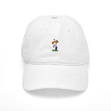 Golfing Girl Baseball Baseball Cap