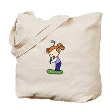 Golfing Girl Tote Bag