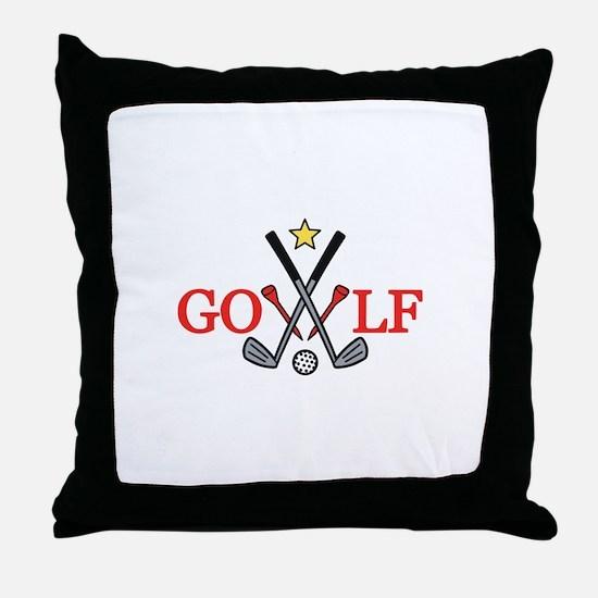 Golf Sport Throw Pillow