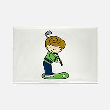 Golfing Boy Magnets