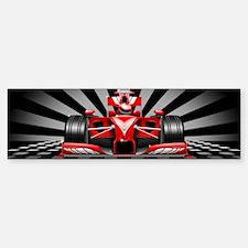 Formula 1 Red Race Car Bumper Bumper Bumper Sticker
