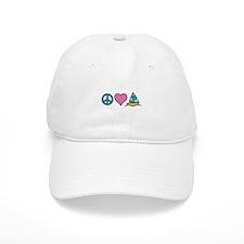 Peace Heart Sailing Baseball Baseball Cap