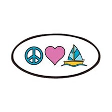 Peace Heart Sailing Patches