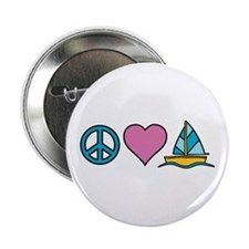 "Peace Heart Sailing 2.25"" Button"
