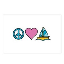 Peace Heart Sailing Postcards (Package of 8)
