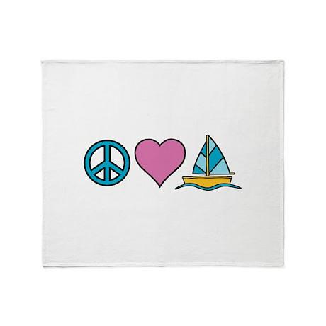 Peace Heart Sailing Throw Blanket