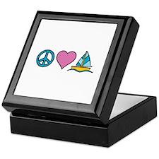 Peace Heart Sailing Keepsake Box