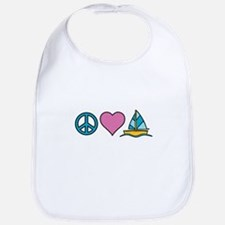 Peace Heart Sailing Bib