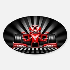 Formula 1 Red Race Car Decal