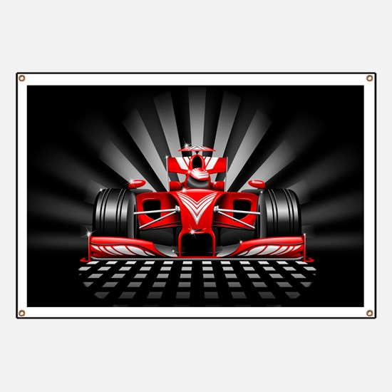 Formula 1 Red Race Car Banner