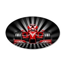 Formula 1 Red Race Car Wall Decal