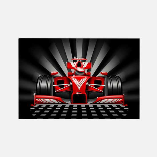 Formula 1 Red Race Car Magnets
