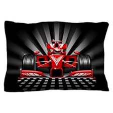 Formula 1 Red Race Car Pillow Case