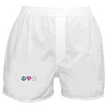 Peace Heart Golf Boxer Shorts