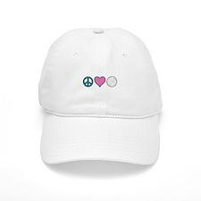 Peace Heart Golf Baseball Baseball Cap