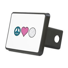 Peace Heart Golf Hitch Cover