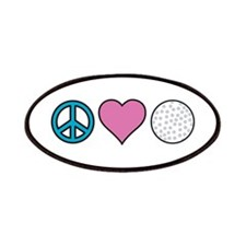 Peace Heart Golf Patches