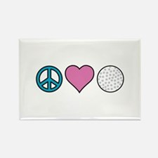 Peace Heart Golf Magnets