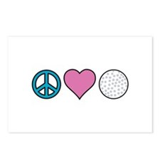 Peace Heart Golf Postcards (Package of 8)