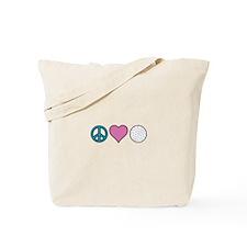 Peace Heart Golf Tote Bag