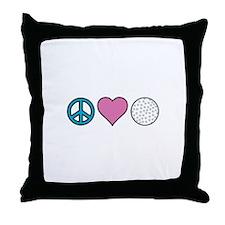 Peace Heart Golf Throw Pillow