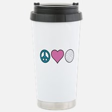 Peace Heart Golf Travel Mug