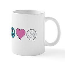 Peace Heart Golf Mugs