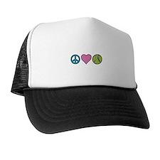 Peace Heart Tennis Trucker Hat