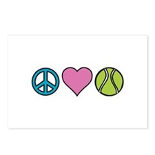 Peace Heart Tennis Postcards (Package of 8)