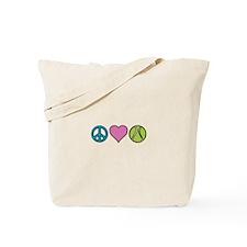 Peace Heart Tennis Tote Bag