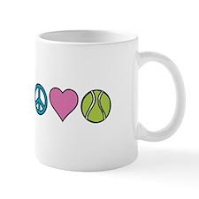 Peace Heart Tennis Mugs