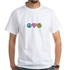 Peace Heart Tennis T-Shirt