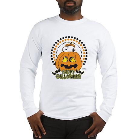 Snoopy and Woodstock Pumpkin Long Sleeve T-Shirt