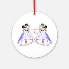 Lesbian Wedding 5 Ornament (Round)