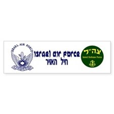 Israel Air Force Blue Bumper Sticker