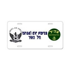 IAF Black Logo Aluminum License Plate