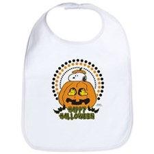 Snoopy and Woodstock Pumpkin Bib