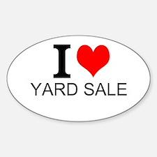I Love Yard Sales Decal