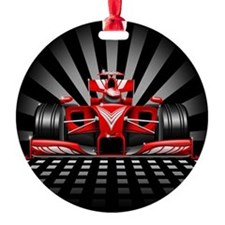 Formula 1 Red Race Car Ornament