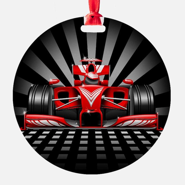 Formula 1 Red Race Car Ornament