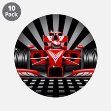 """Formula 1 Red Race Car 3.5"""" Button (10 pack)"""