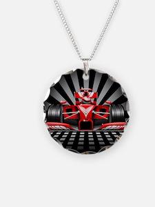 Formula 1 Red Race Car Necklace